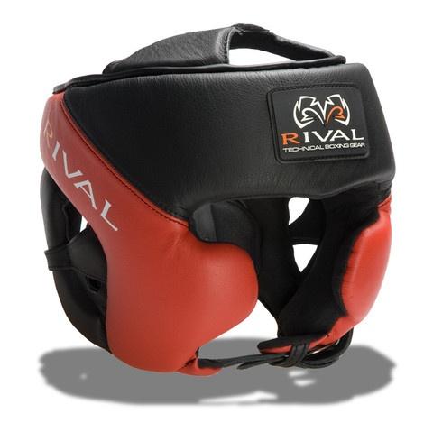 Rival RHG-Pro Training headgear. Black & Red version.