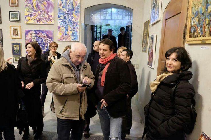 19 novembre 2016 Con l'amico artista IVO VASSALLO  al vernissage della mostra d'arti visive DIALOGHI D'ARTE, presso il complesso monumentale della chiesa di santa Maria di castello a Genova