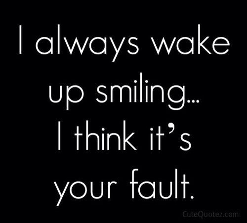 it's all your fault ...