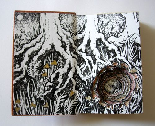 Image result for sculptural altered books