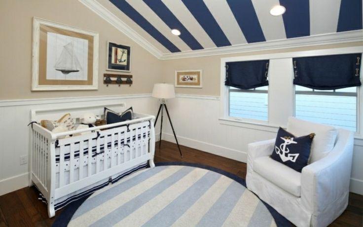 Dormitorio de bebe estilo marinero