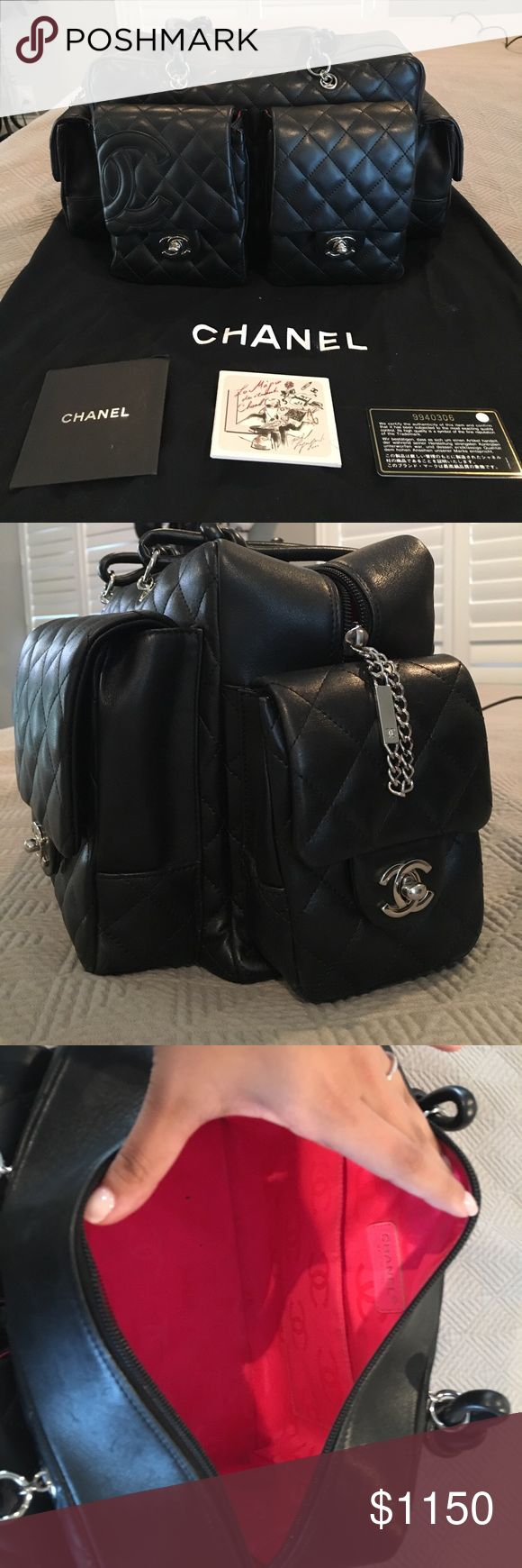 Authentic Chanel Cambon Reporter Bag Authentic Chanel Cambon Reporter Bag in great condition. Minimal wear! Comes with authenticity cards and dust bag! CHANEL Bags Shoulder Bags