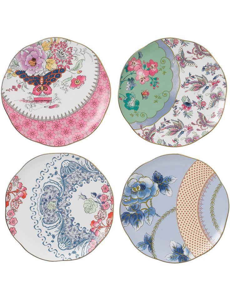 Butterfly Bloom Set Of 4 Plates 20cm   David Jones  sc 1 st  Pinterest & 24 best Kitchen - Crockery images on Pinterest   Coffee cups Coffee ...