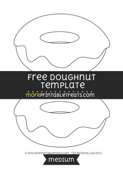 Free Doughnut Template Medium Shapes And Templates Printables