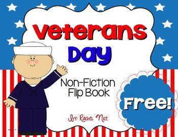 FREEBIE!  Veterans Day Flip Book #VeteransDay www.operationwearehere.com/veteransday.html