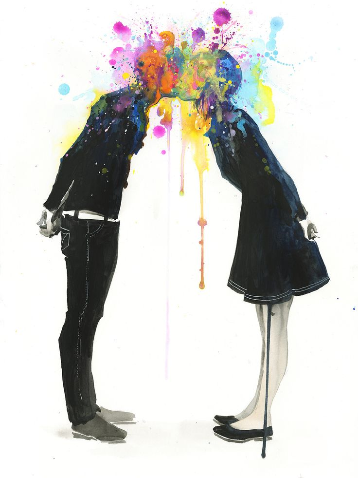 'Big Bang Kiss' Fine Art Print by Lora Zombie - Available in a variety of formats at Eyes On Walls http://www.eyesonwalls.com/products/big-bang-kiss-fine-art-print