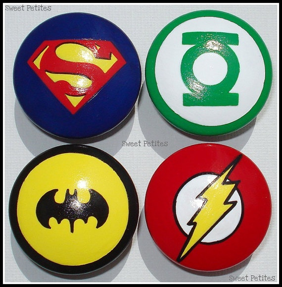Superhero dresser knobs
