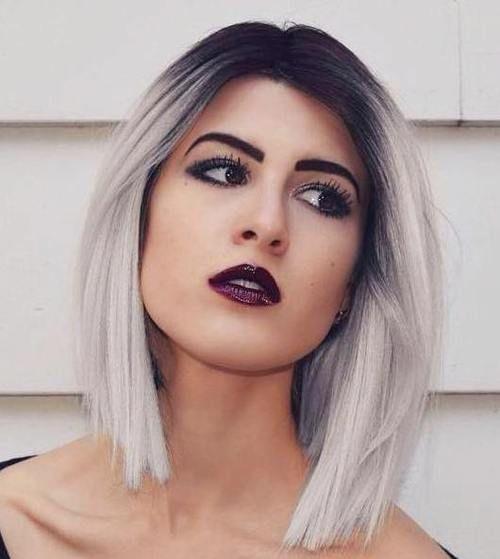 Más de 100 ideas para llevar el pelo Rubio Ceniza: Estilo degradado a dos colores ¿Te atreves?