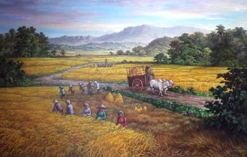 Rice Fields Painting
