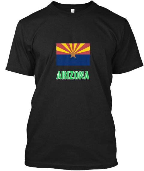Arizona Flag Stencil Green Design Black T-Shirt Front - This is the perfect gift for someone who loves Arizona. Thank you for visiting my page (Related terms: I Heart Arizona,Arizona,Arizona,Arizona Travel,I Love My Country,Arizona Flag, Arizona Map,Arizona L #Arizona, #Arizonashirts...)