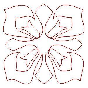 Tulipánky - čtverec: