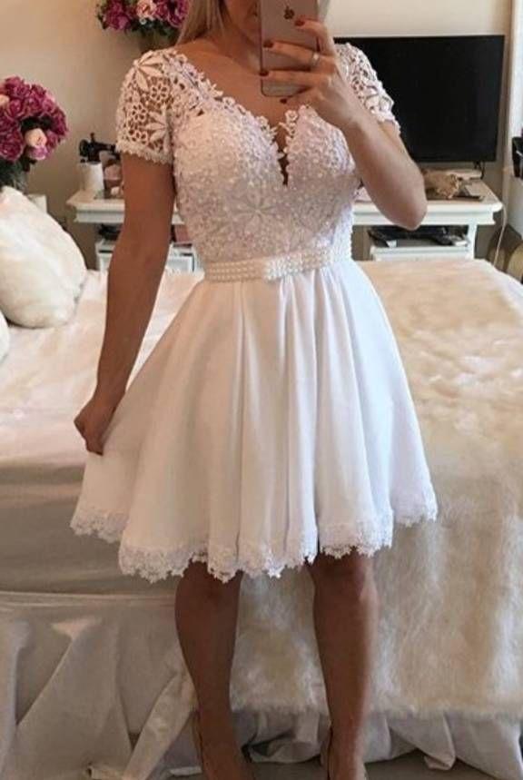 Vestido Branco De Festa Confeccionado Pelo Ateliê Bárbara