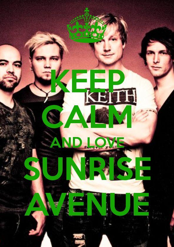 keep calm and love sunrise avenue