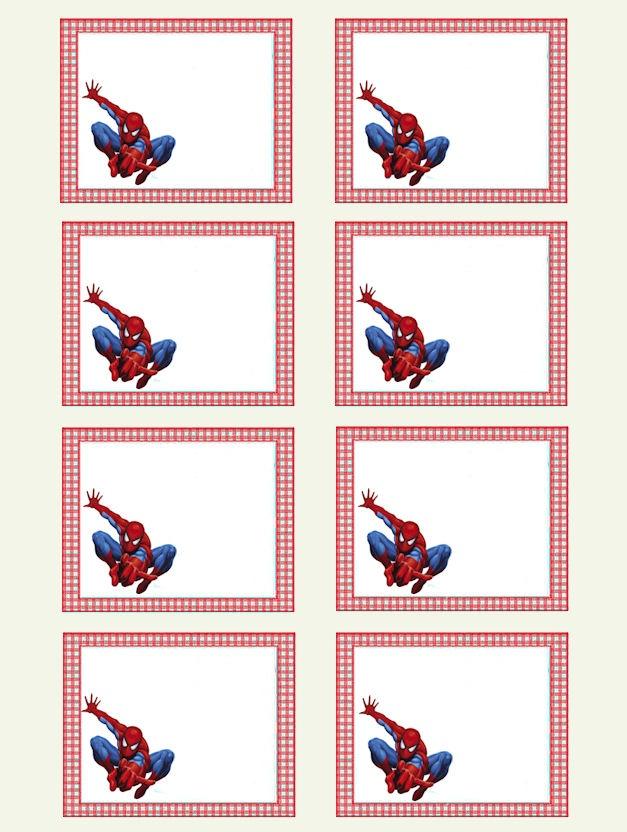 """les petits garçons adorent les superhéros : ces étiquettes """"Spiderman"""" leur plairont beaucoup !"""