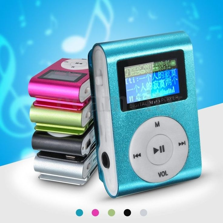 Mini MP3 Music Player USB Clip With Digital LCD Screen 32GB Micro SD TF Card