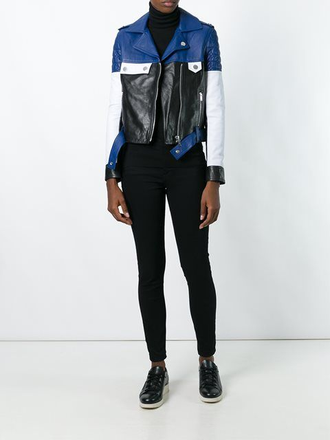 Courrèges байкерская куртка дизайна колор-блок