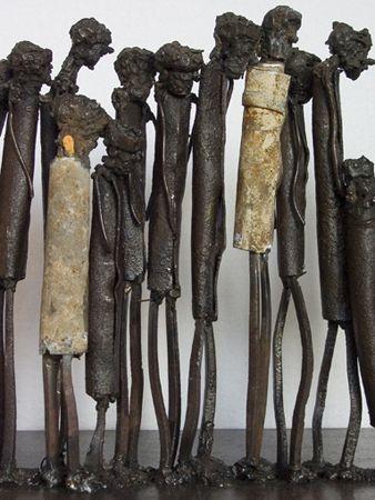 Mixed media metal sculptures | Modern junk art sculpture by Johan Jonsson