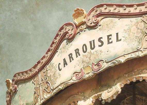 Carnival photograph - fine art photography print - dreamy, pastel, carousel photo, Barcelona, home decor