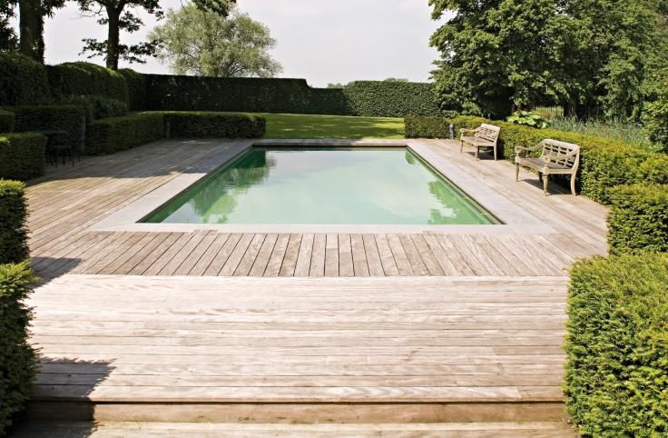 Timber decking, a change from tiles or concrete.