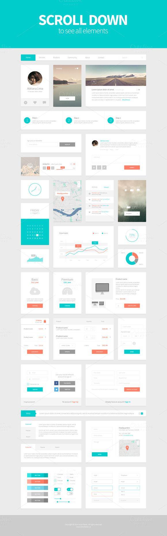 Alpha UI Kit - Web Elements - 4