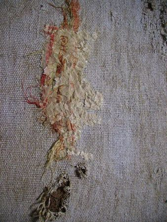 French antique fabric piece created by French textile artist