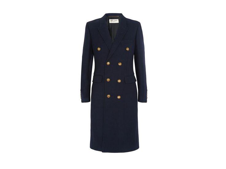 SAINT-LAURENT-cappotto-blu-navy