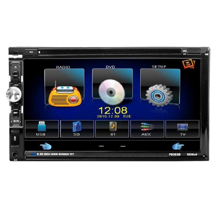 83.85$  Watch now  - Luxury Car Worlds 7 In Dash 2 Din HD Car Stereo DVD Player Bluetooth Touch Screen FM Radio USB SD