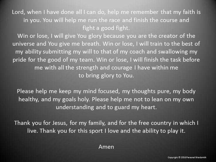 Athlete's Prayer Digital Download, Athletic Prayer Digital Print Art, Digital…