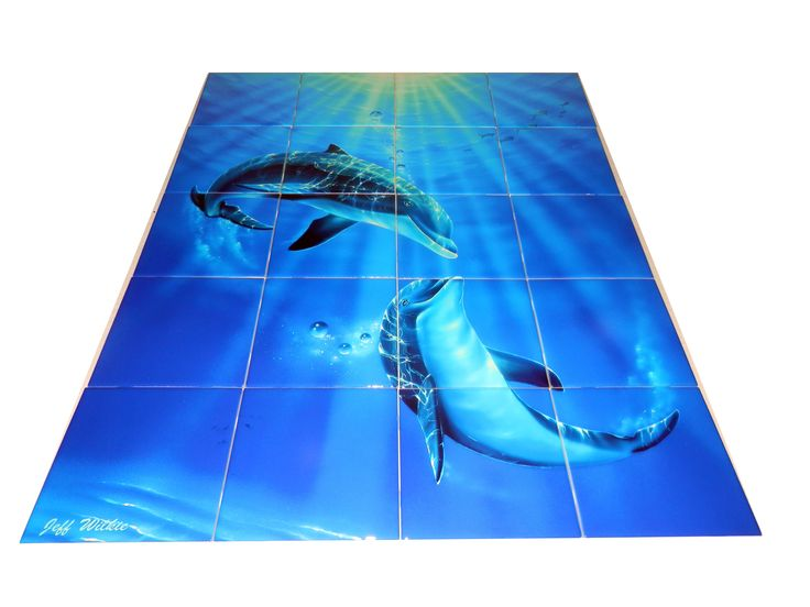 17 best images about dolphins mermaids on pinterest for Dolphin tile mural