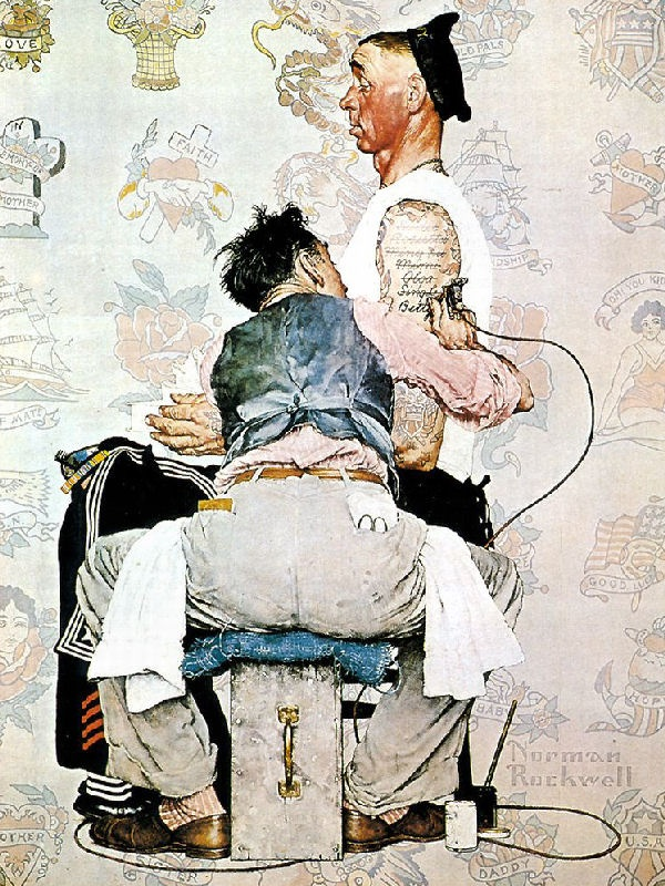 78 best norman rockwell images on pinterest norman for Norman rockwell tattoo