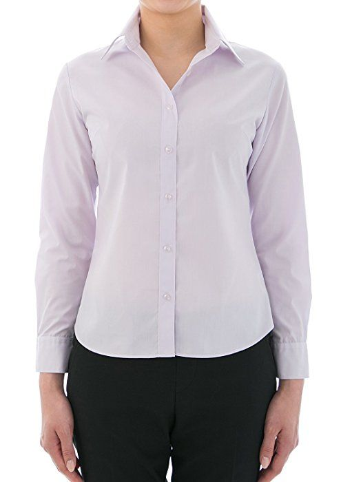 Leonis Women s Easy Care Soft Oxford Dobby Long Sleeve Shirt Pink (XS  2 )    34652   at Amazon Women s Clothing store  321d02f4d