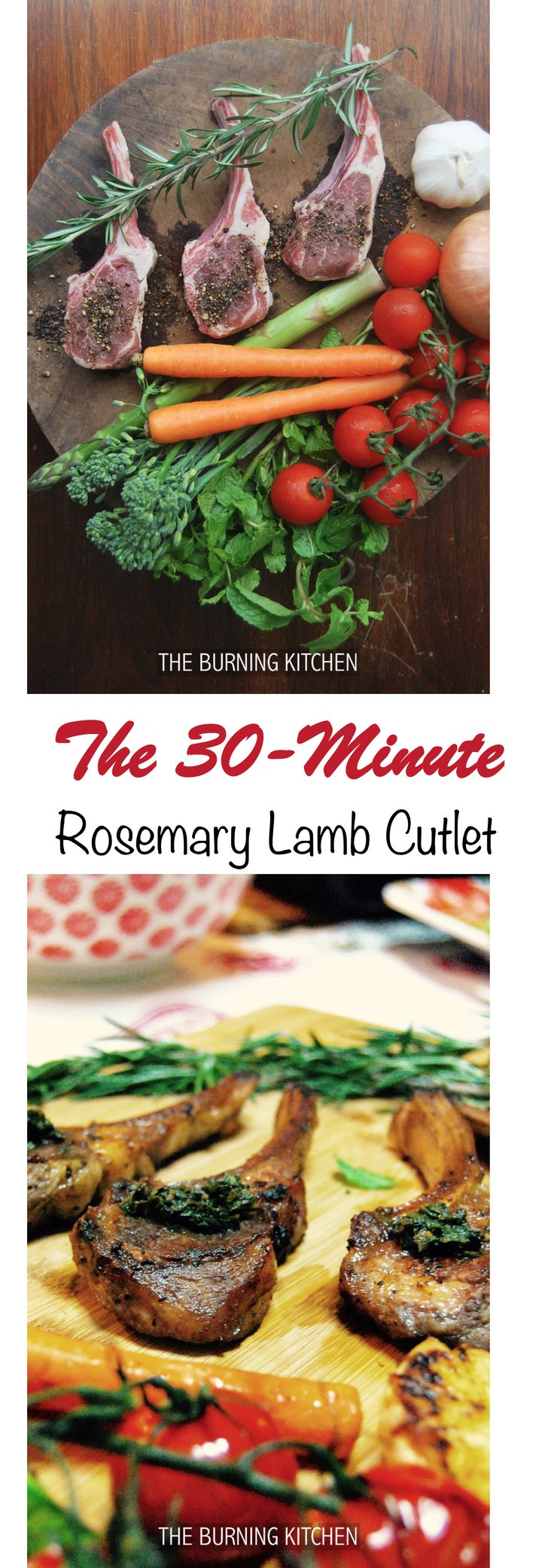 The Burning Kitchen | Pan-fried Rosemary Lamb Cutlets that can be prepared in just 30 minutes!