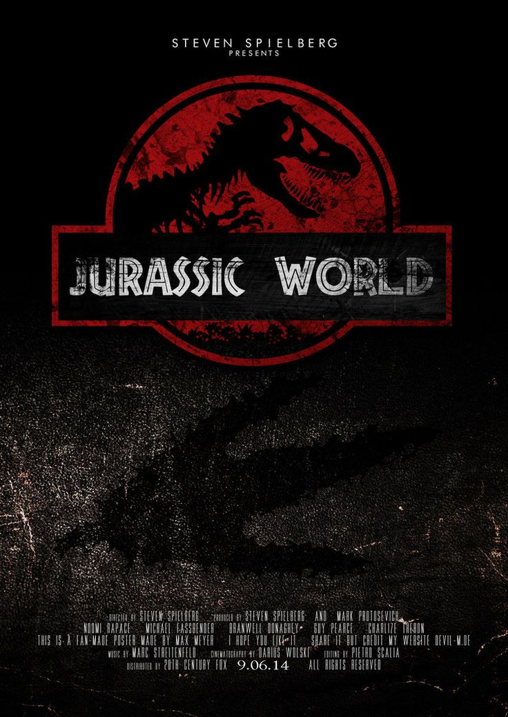 jurassic park movie poster size