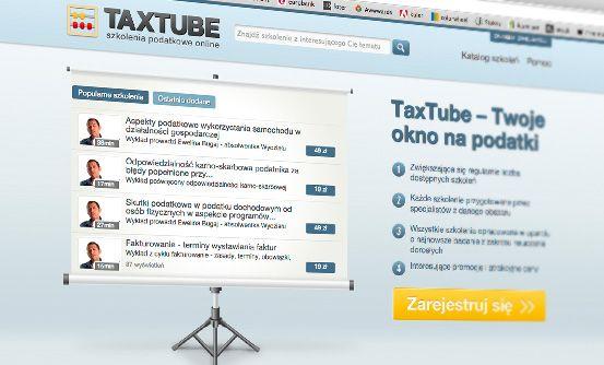 www.taxtube.pl - aplikacja publikacji szkoleń podatkowych online // app for online publication of taxation trainings