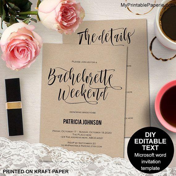 De 25+ bedste idéer inden for Bachelorette itinerary på Pinterest - bachelorette invitation template