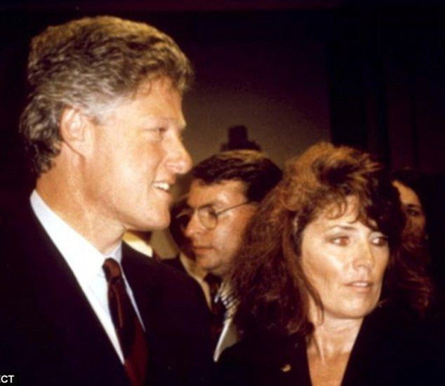 Kathleen Willey with Bill Clinton - Kathleen's husband Ed killed himself on the very day she claimed that the president sexually assaulted her in the Oval Office