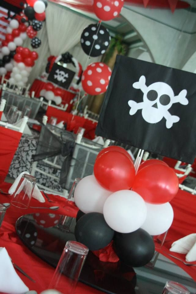 pirate balloon centerpiece