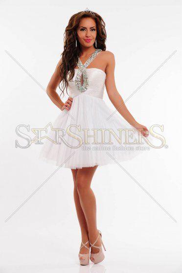 Rochie Sherri Hill Special Jewel White