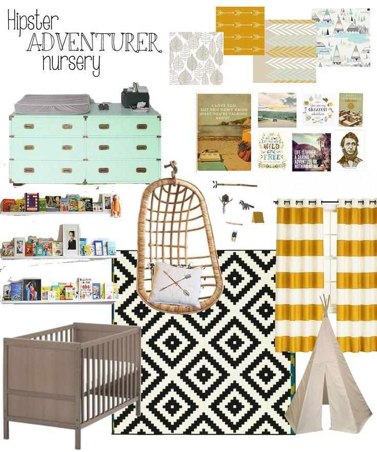 Hipster adventurer nursery nursery inspo board for Boy nursery fabric