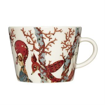 Enjoy your morning coffee in the lovely Tanssi coffee cup designed by Klaus Haapaniemi for Iittala. The cup is made of fine porcelain and has a pattern with a mythological story inspired by the visual designs that Klaus Haapaniemi created for the Finnish National Opera production of The Cunning Little Vixen. The Czech opera tells a sad, yet beautiful story about the coexistence of animals and humans. The colorful inhabitants of the mystical forest is a deer charming the forest with the…