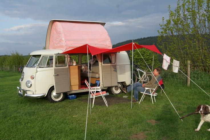 At Monstay Farm (http://monstayfarm.co.uk/) A wonderful (if basic) campsite in Mortimer Forest near Ludlow, Shropshire.