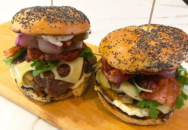 What do you think of these guys? Bagel bacon smoked cheeseburgers. Dang they were good. We have the full recipe on our YouTube account. Link in bio. . . Pic by me! Credit:@BBQandBottles . . #EEEEEATS #devourpower #buzzfeast #feedfeed #lovefood #eatguide #myfab5 #BBQandBottles #sgfoodie #igsg #sgfoodblogger #eater #eatmunchies #foodography #foodiegram #yahoofood #f52grams #foodnetwork #foodislife #beautifulcuisines #foodislove #foodoftheday #buzzfeast #spoonfeed #forkyeah #Grill #Burger…