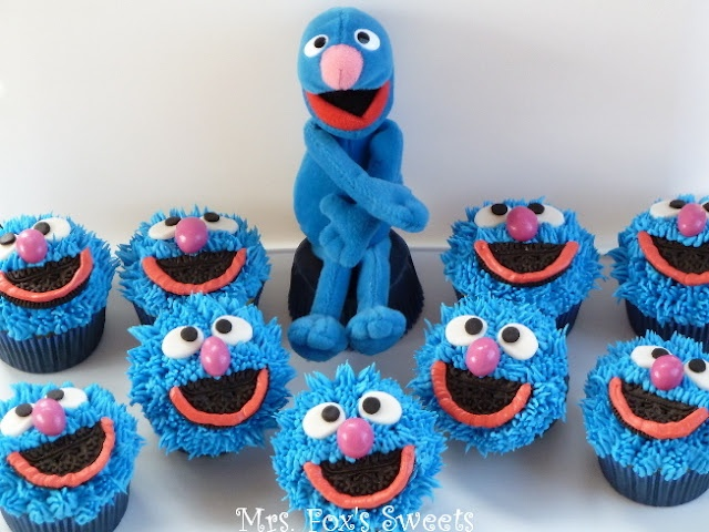 Grover Cupcakes