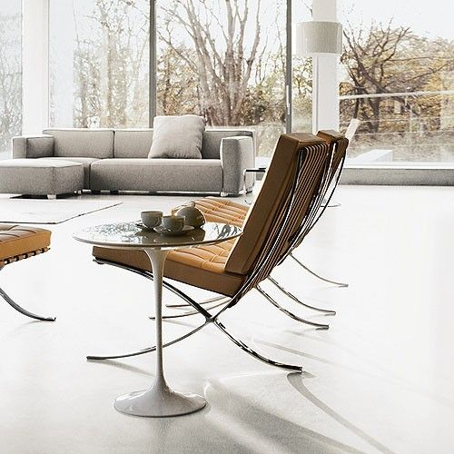 The iconic Barcelona® Chair is one of the most recognized objects of the last century and a stunning example of the modern movement. http://www.yliving.com/knoll-barcelona-chair-in-chrome.html