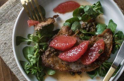 Escalopes de porc aux c pres et pamplemousse de 3 fois par - Cuisiner le jarret de porc ...