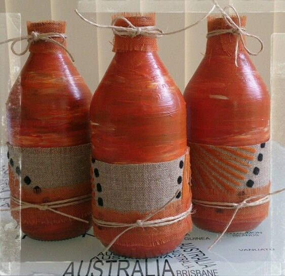 Painted Recycled Bottles