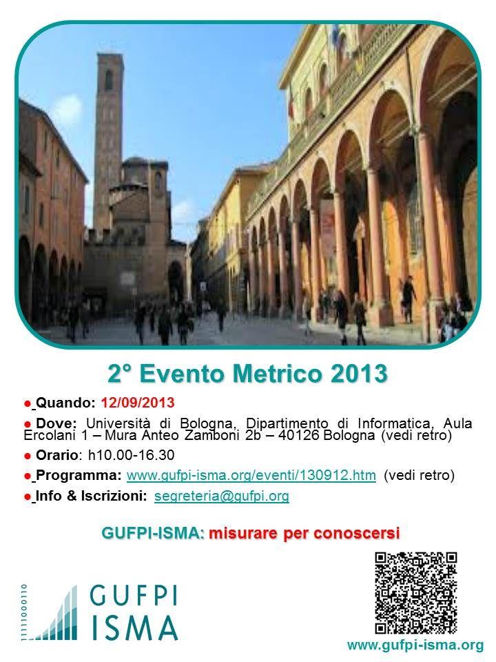2° #EventoMetrico 2013 GUFPI-ISMA