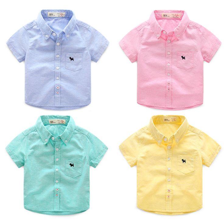 Kids brand short sleeve shirt $5.38 from Aliexpress