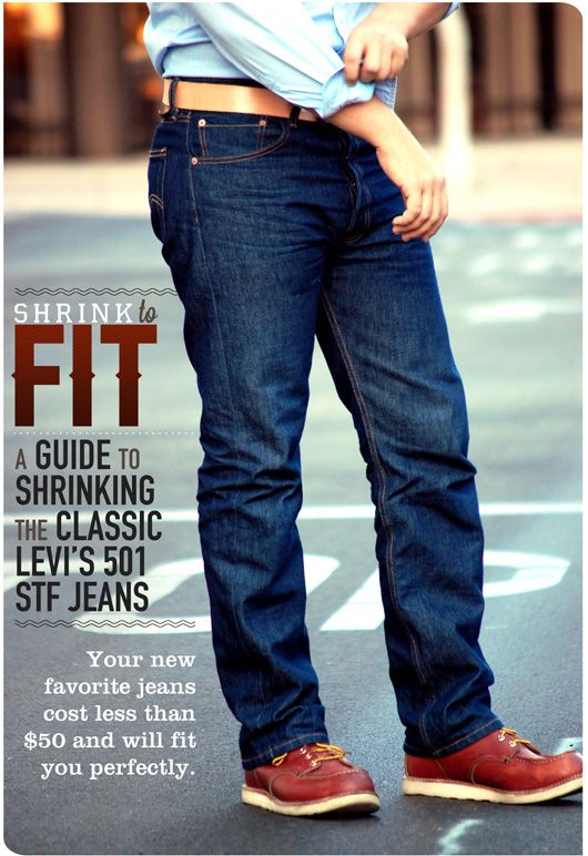 Shrink to Fit: A Guide to Shrinking the Classic Levi's 501 STF Jeans | Primer