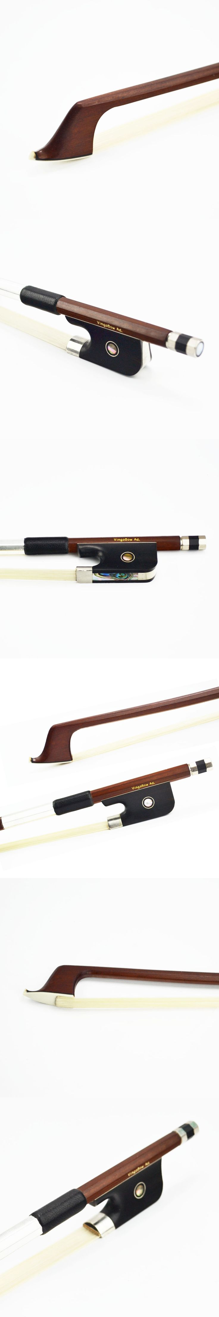 FREE SHIPPING 1/2 Size 310C Brazilwood CELLO BOW Good Quality Ebony Frog White Horsehair Straight Violin Parts and Accessories